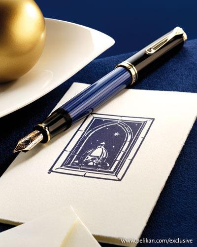 lapicera pluma souveran m400 blue-black pelikan (10681) lw