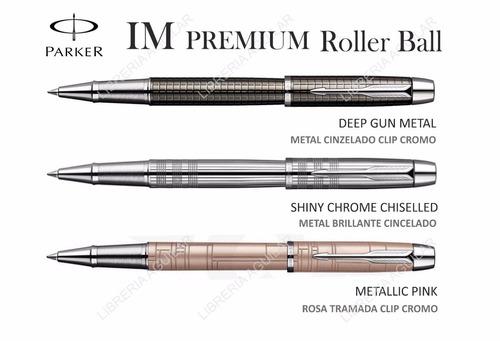 lapicera roller ball parker im premium textura apta grabado