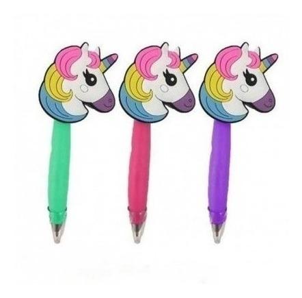 lapicera unicornio - bolígrafo - útiles escolares
