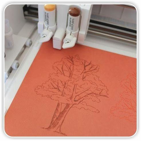 lapiceras silhouette cameo lapiz naranja decoracion