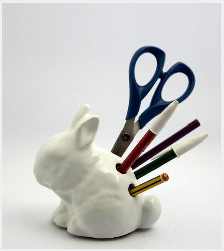 lapicero de cerámica conejo ninja