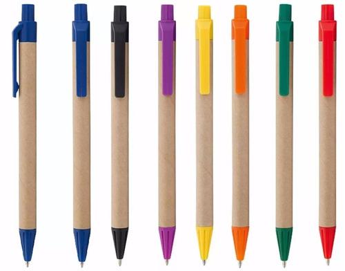 lapicero ecologico publicitarios x 100 unds. + 1 color