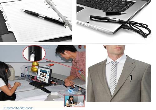 lapicero espía graba videos hd y toma fotos + memoria 8 gb