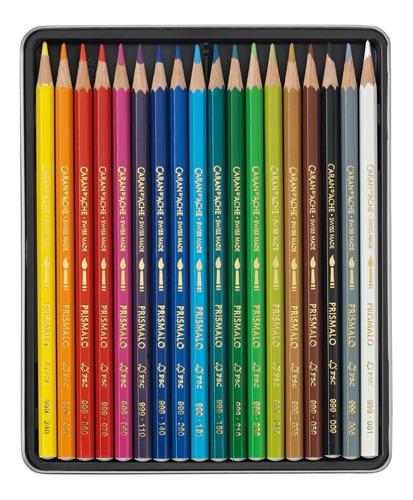 lapices acuarelables caran d ache prismalo x 18 colores