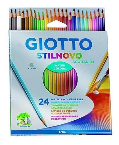 lapices acuarelables giotto stilnovo x24 colores microcentro