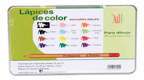 lápices arte dibujo madera 12 colores diseño nuevos envío