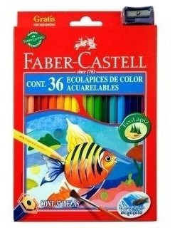 lapices color faber castell x36 acuarelable largo