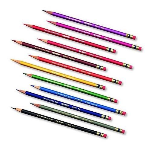 lápices coloreables borrados col-erase de prismacolor, 12-co