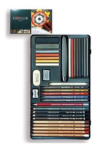 lápices cretacolor y material para artista ultimo 36 pz.