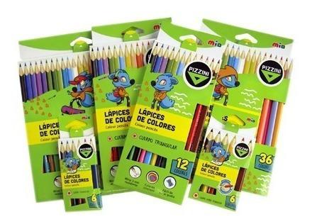 lapices de colores artistica pizzini caja x24 colores largos