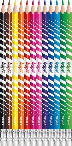 lapices de colores borrables maped color peps oops! x12 edu