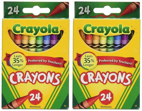 Lápices De Colores Crayola 24 Count - 2 Paquetes (52-3024 ...