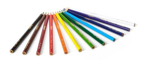 lapices de colores crayola largo x12