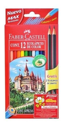 lápices de colores faber castell ecolápiz largos x 12