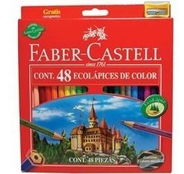 lápices de colores faber castell ecolápiz largos x 48