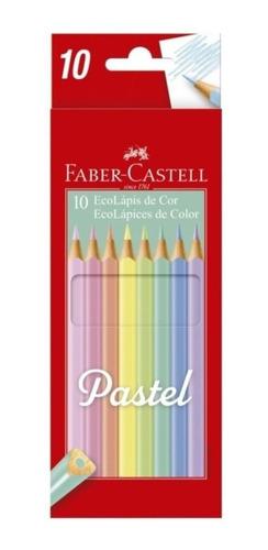 lapices de colores faber castell pastel ecolapiz x10