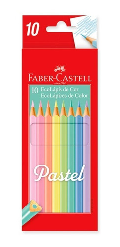 lápices de colores faber castell pastel largos x10 ecológic