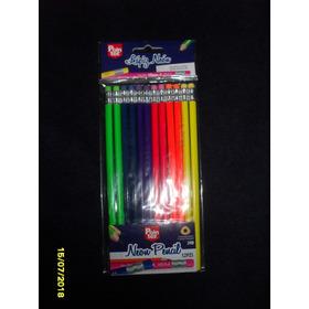 Lápices De Colores Neon 12 (2 Paquetes)