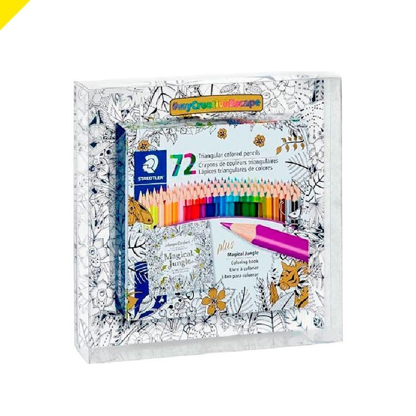 Lápices De Colores Staedtler 72 Piezas + Libro De Mandalas ...