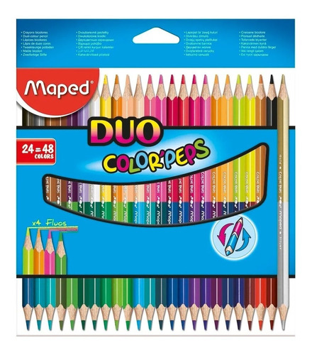 lapices de colores x24 duo colorpeps maped 829602 educando