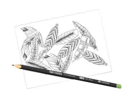 lápices de madera. negros.triangulares. hb 4 unid.