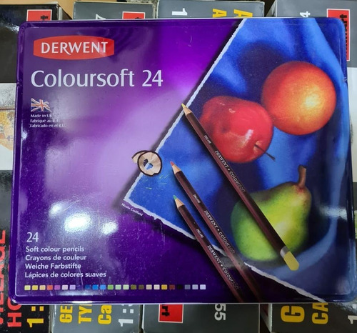 lapices derwent coloursoft caja metalica x 24