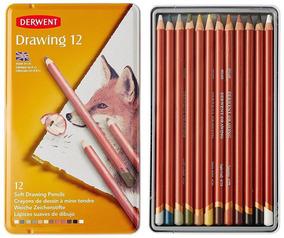 Colección De Dibujo Derwent Lata de 12