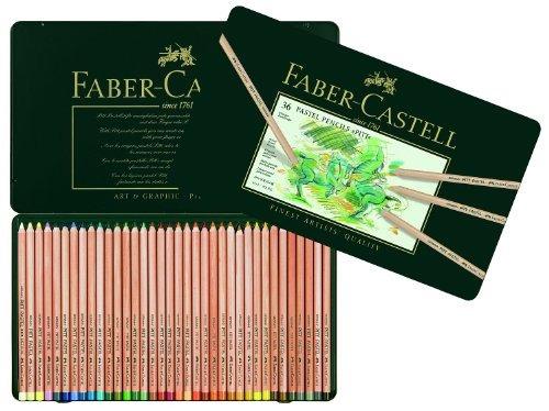 lápices faber-castel fc pitt colores pastel en una lata de