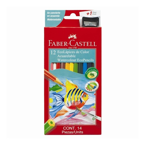 lapices faber castell acuarelables x 12