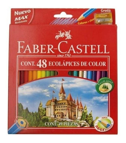 lapices faber castell ecolapices x48 + sacapuntas