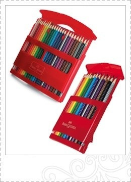 lapices faber castell estuche x 24 colores flip box grip