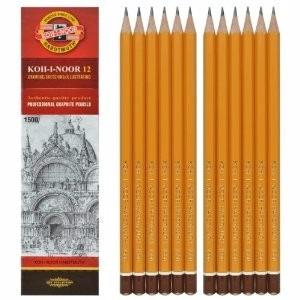 lapices grafito koh-i-noor hardtmuth x 12 1500 5b (1451)