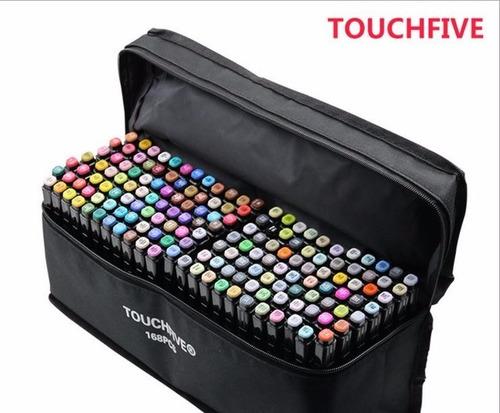 lápices marcadores 168 colors touchfive original+ envío