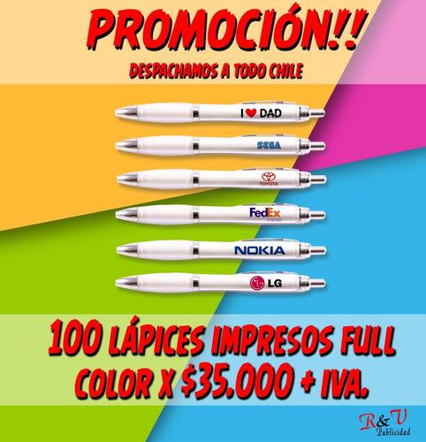 lapices publicitarios puerto montt, impresion full color