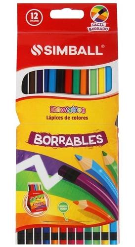 lapices simball innovation borrables x12 largos