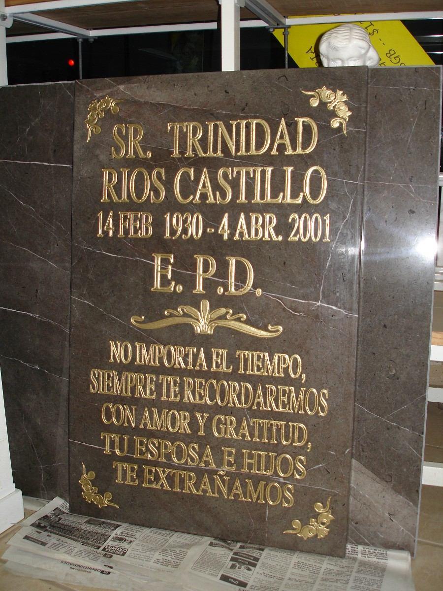 Lapida o placa para pante n grabada 1 en for Placas de marmol medidas