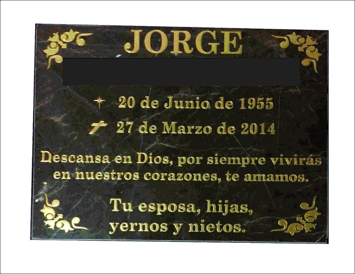 Lápida Para Panteón Aniversario Luctuoso O Día De Muertos