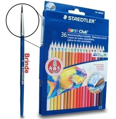 lapis aquarelável staetler noris club 36 cores com pincel