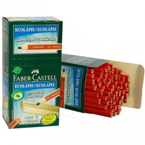 lápis carpinteiro marceneiro faber-castell 72pçs