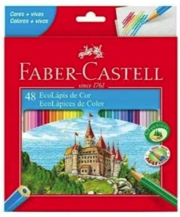 9809460ca9 Lápis Cor Sextavado Faber Castell 48 Cores - R  39