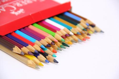 lápis de cor aquarelável com 36 cores fáber castel