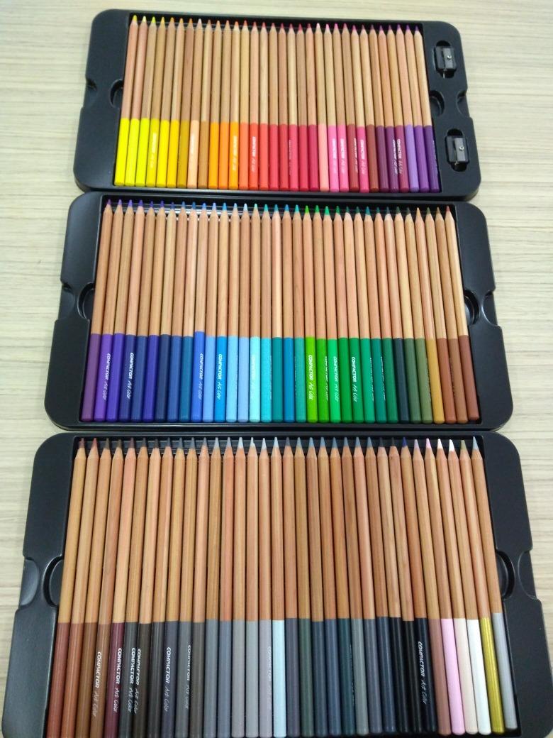 8d3f291312 lápis de cor compactor 100 cores art color + apontador. Carregando zoom.
