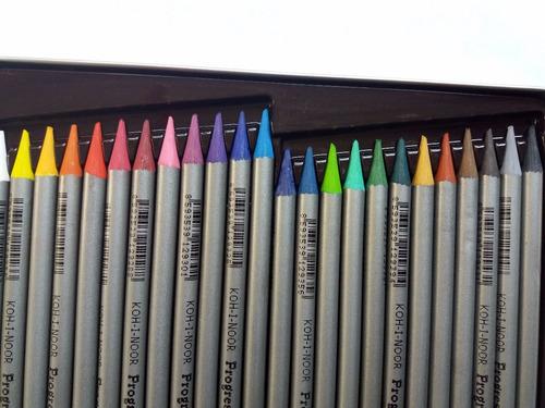 lápis de cor integral progresso aquarell koh-i-noor 24 cores