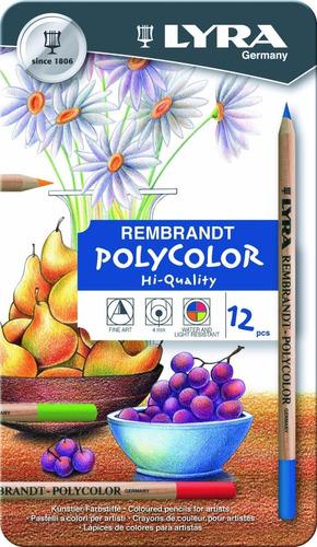lápis de cor lyra rembrand polycolor prof cj 12 *frete+b