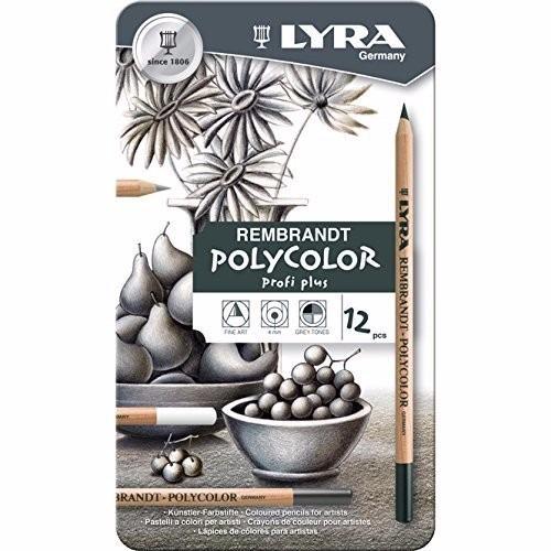 lápis grafite lyra rembrandt pro graphito cj.11 + bl. canson