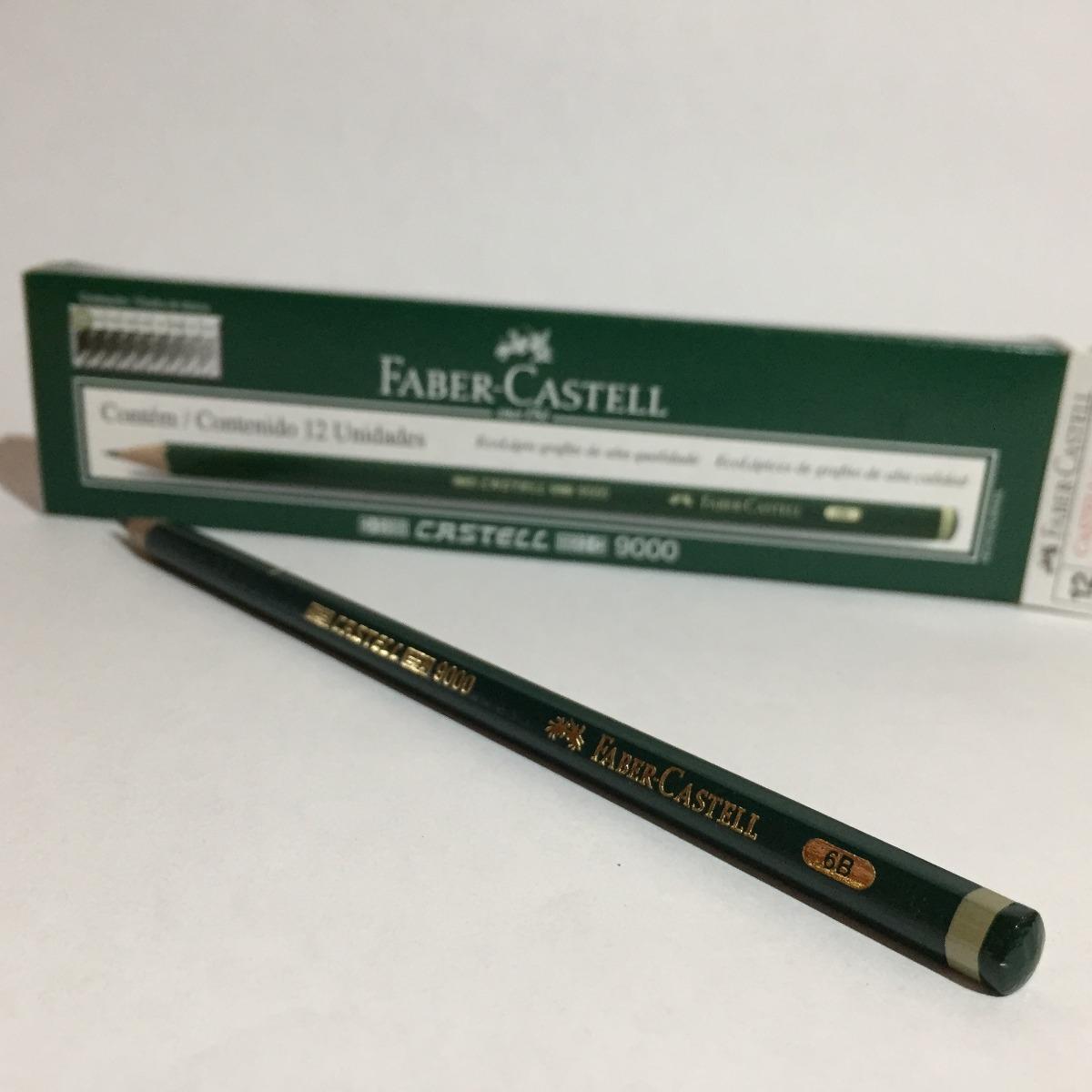 e73ddcf016 lápis grafite sextavado faber-castell 9000 6b - ref. 90006b. Carregando  zoom.