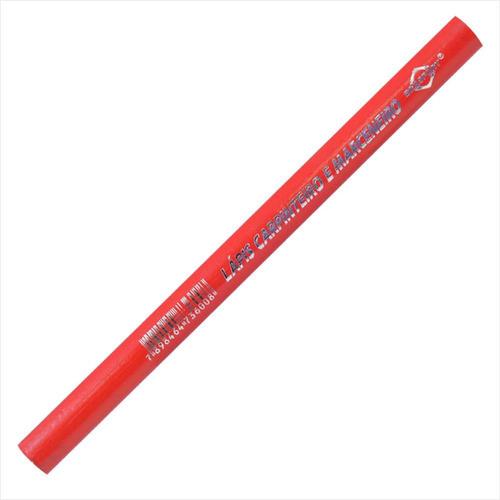 lapis para carpinteiro/pedreiro vermelho brasfort