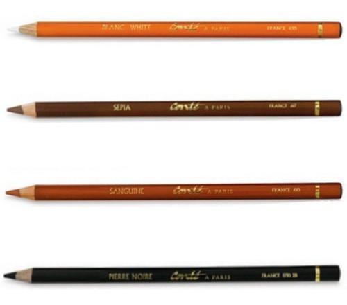 lápis pastel crayon conté à paris cor sanguine *frete+barato