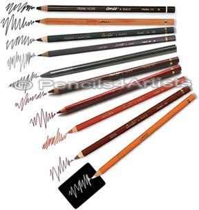 lápis pastel crayon conté à paris cor sepia *frete+barato*
