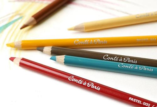 lápis pastel seco conté à paris 12 cores